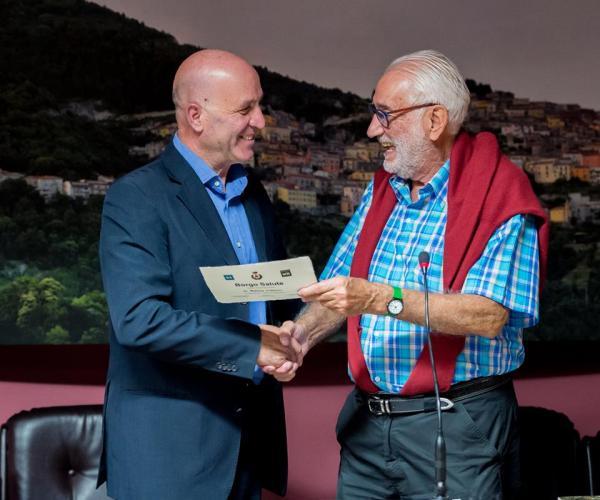 Dott. Walter Pierpaoli col sindaco dott Salamone